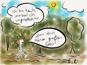 """""""Ich bin heute unheimlich produktiv"""" – Natalie Bromberger"""