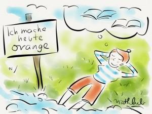 """""""Ich mache heute orange"""" von Natalie Bromberger"""