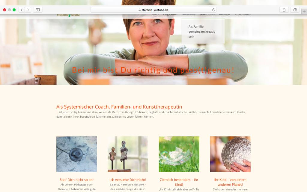 Ulrike Zecher erstellt Webseiten für Selbstständige.